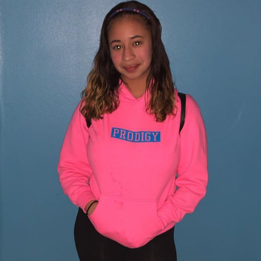 SPECIAL EDITION PRODIGY BRAND SQUARE MIAMI VICE NEON PINK WITH NEON BLUE LETTERING