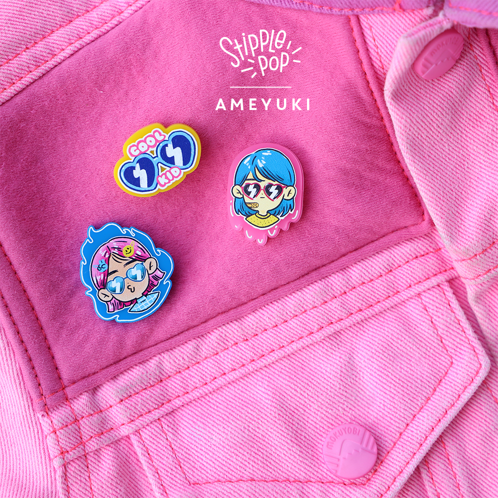 Image of Ameyuki Cool Kid Pin series