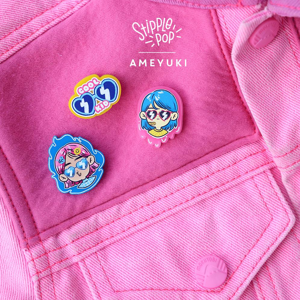 Image of Ameyuki Cool Kid Pin series