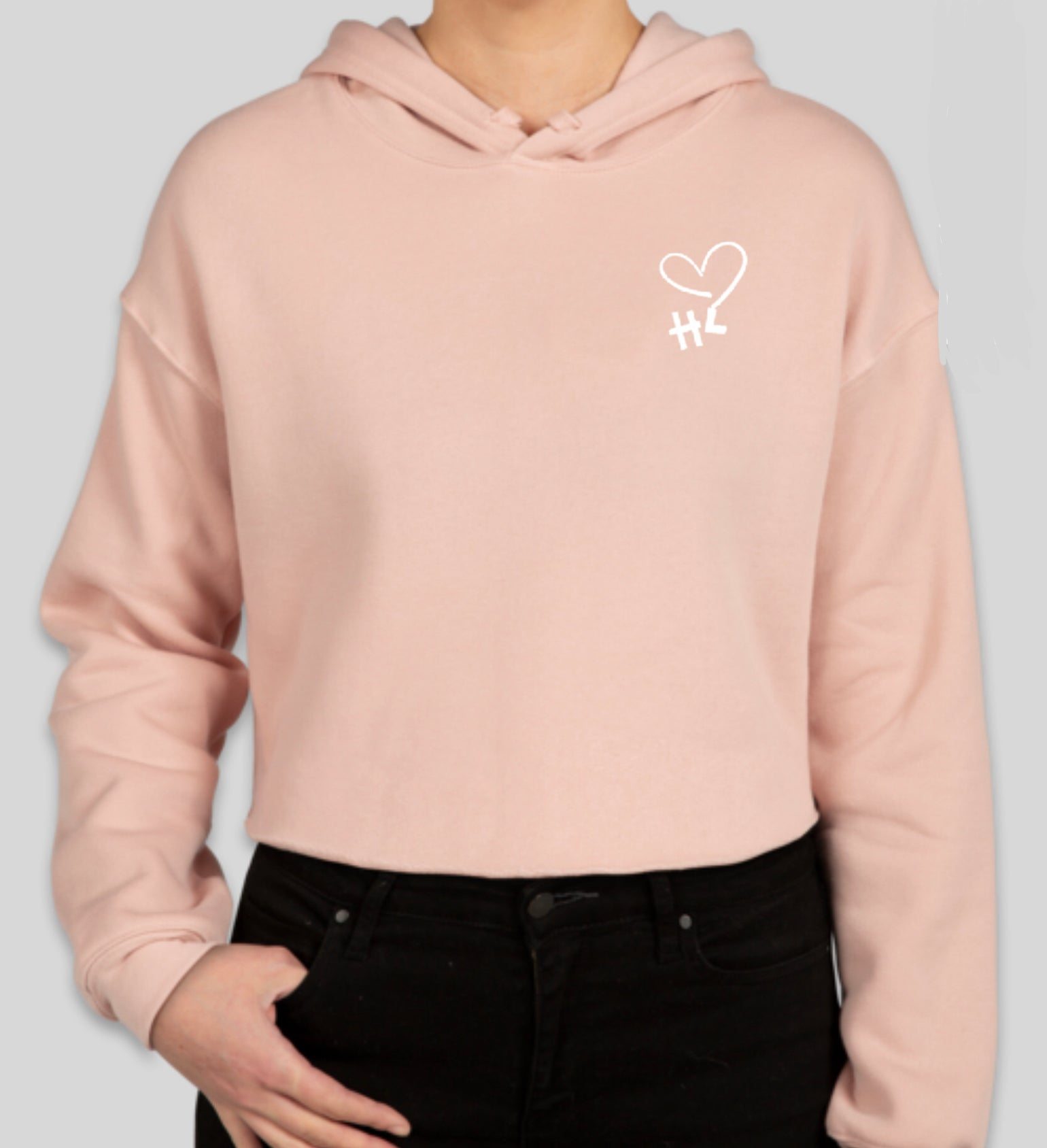 Image of Aloha from the Heart Crop Hoodie