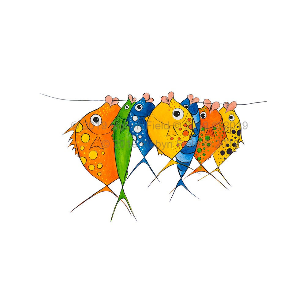 Image of Australian Artwork Print - Happy Fish