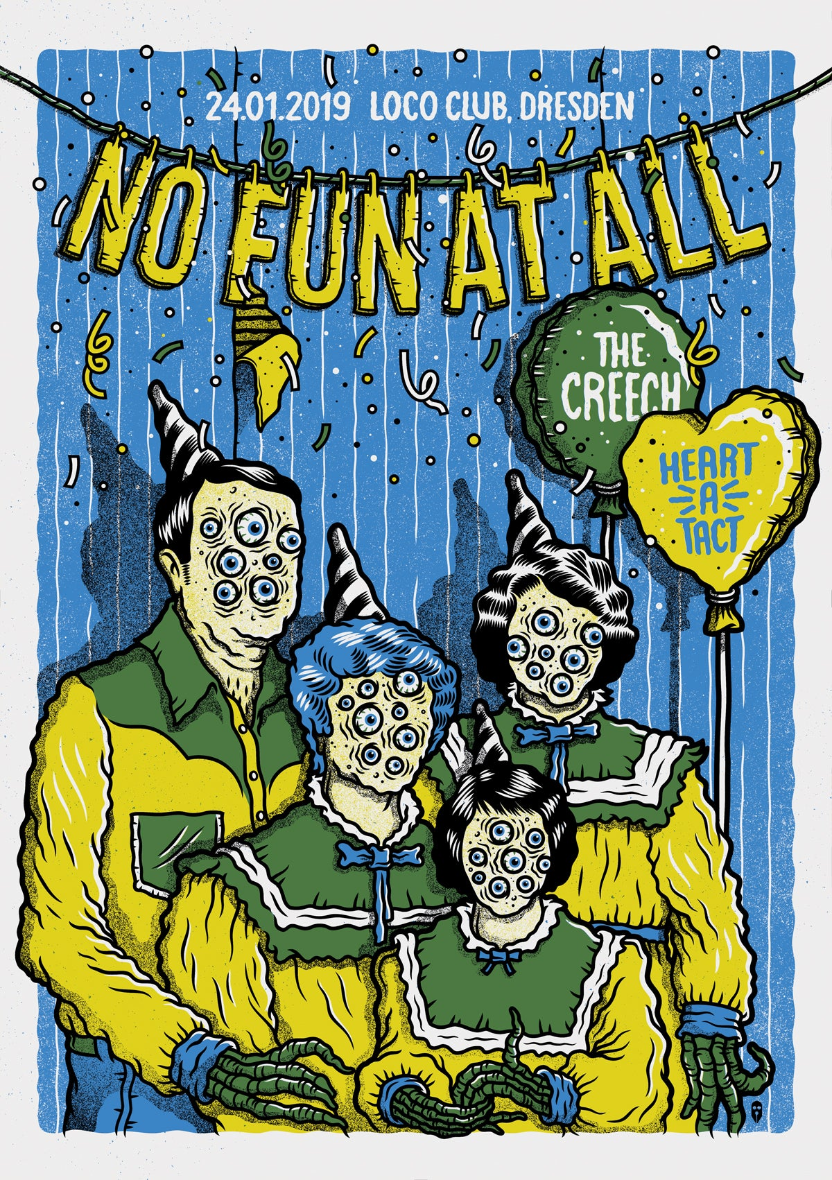 Image of NO FUN AT ALL GIGPOSTER
