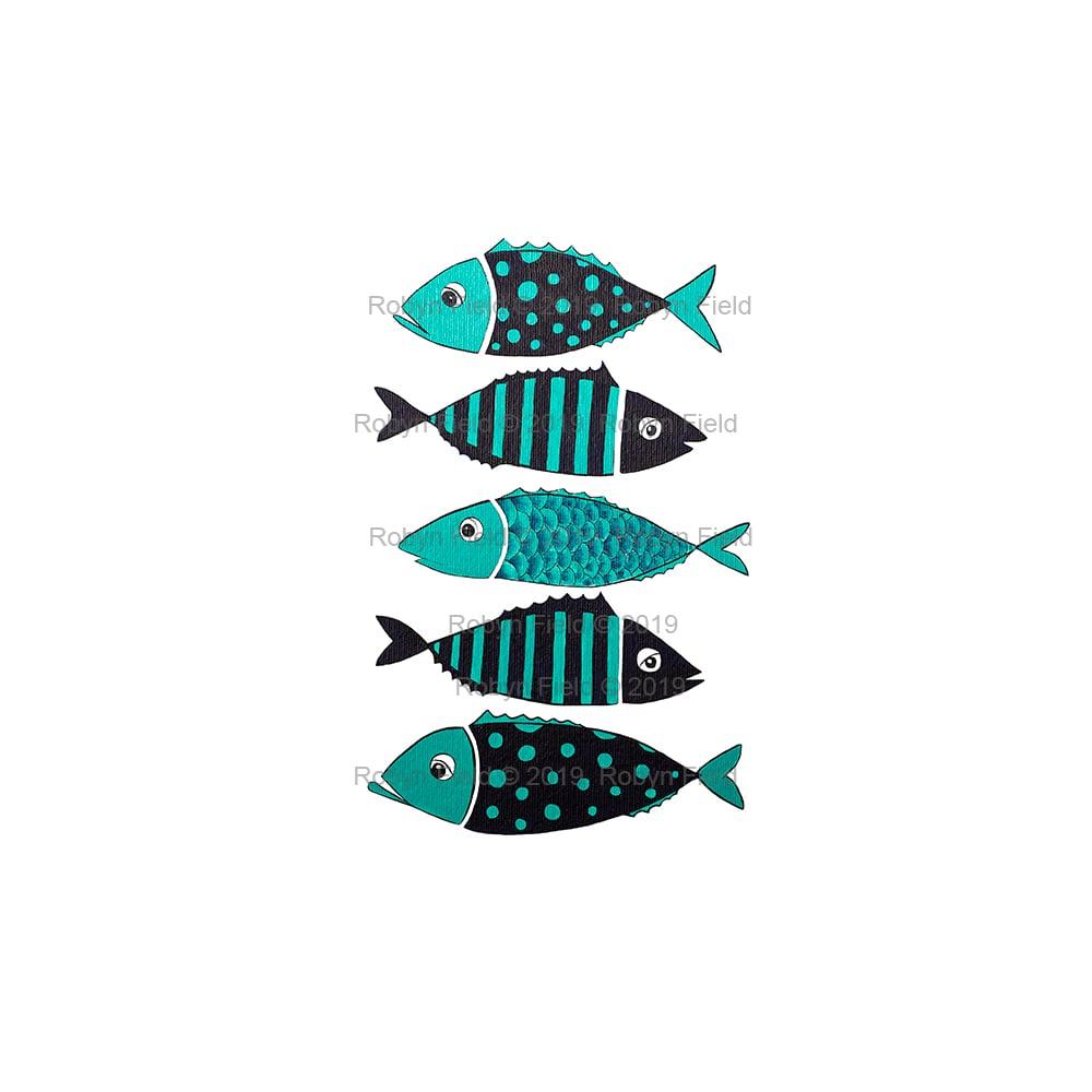 Image of Australian Artwork Print - Spots and Stripes