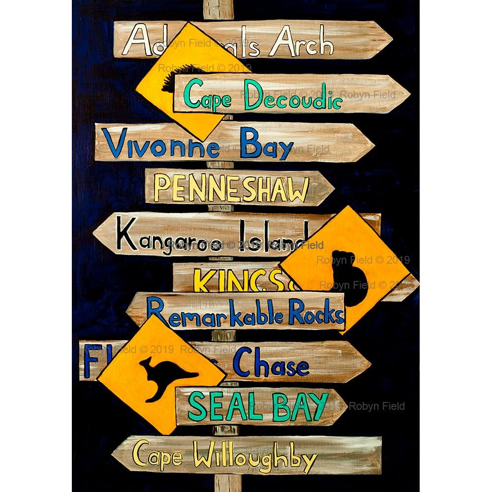 Image of Kangaroo Island Artwork Print - Signposts