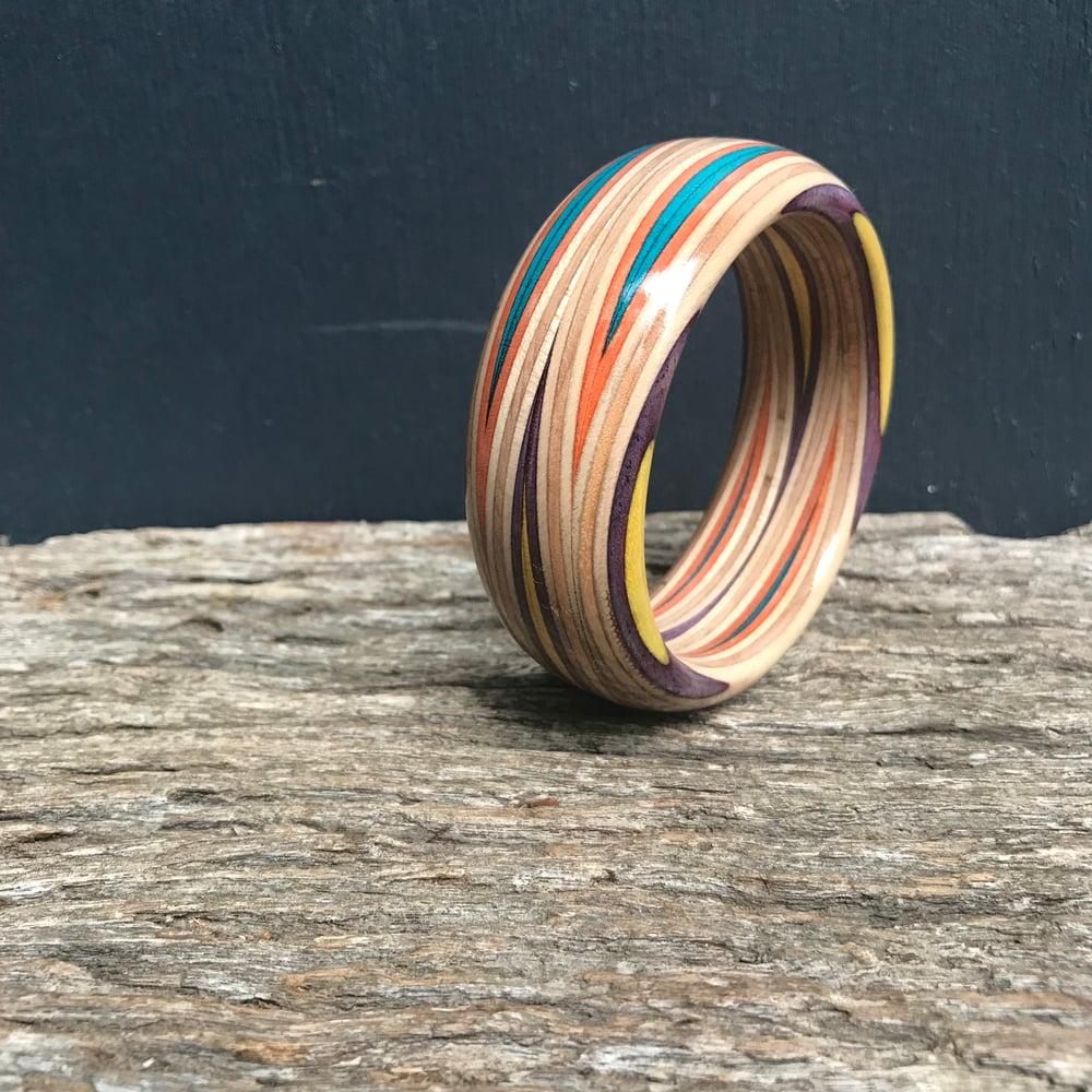 Image of Orbit slim bracelet purple/yellow