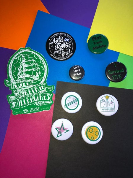 Image of STICKERS AND BADGES