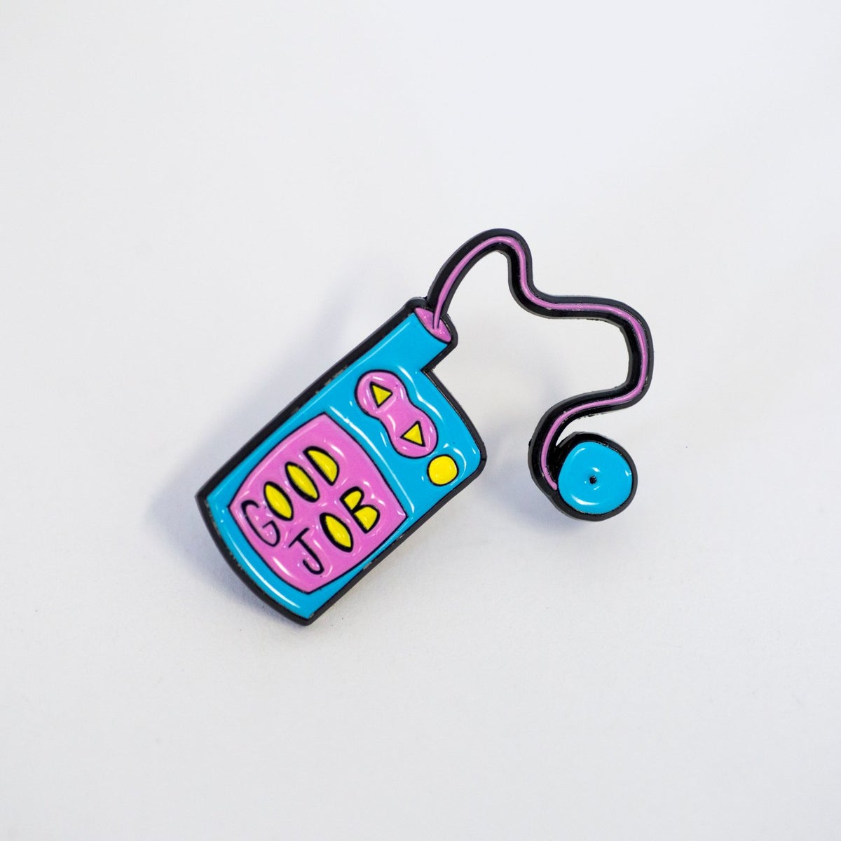 Image of Good Job Label Pin
