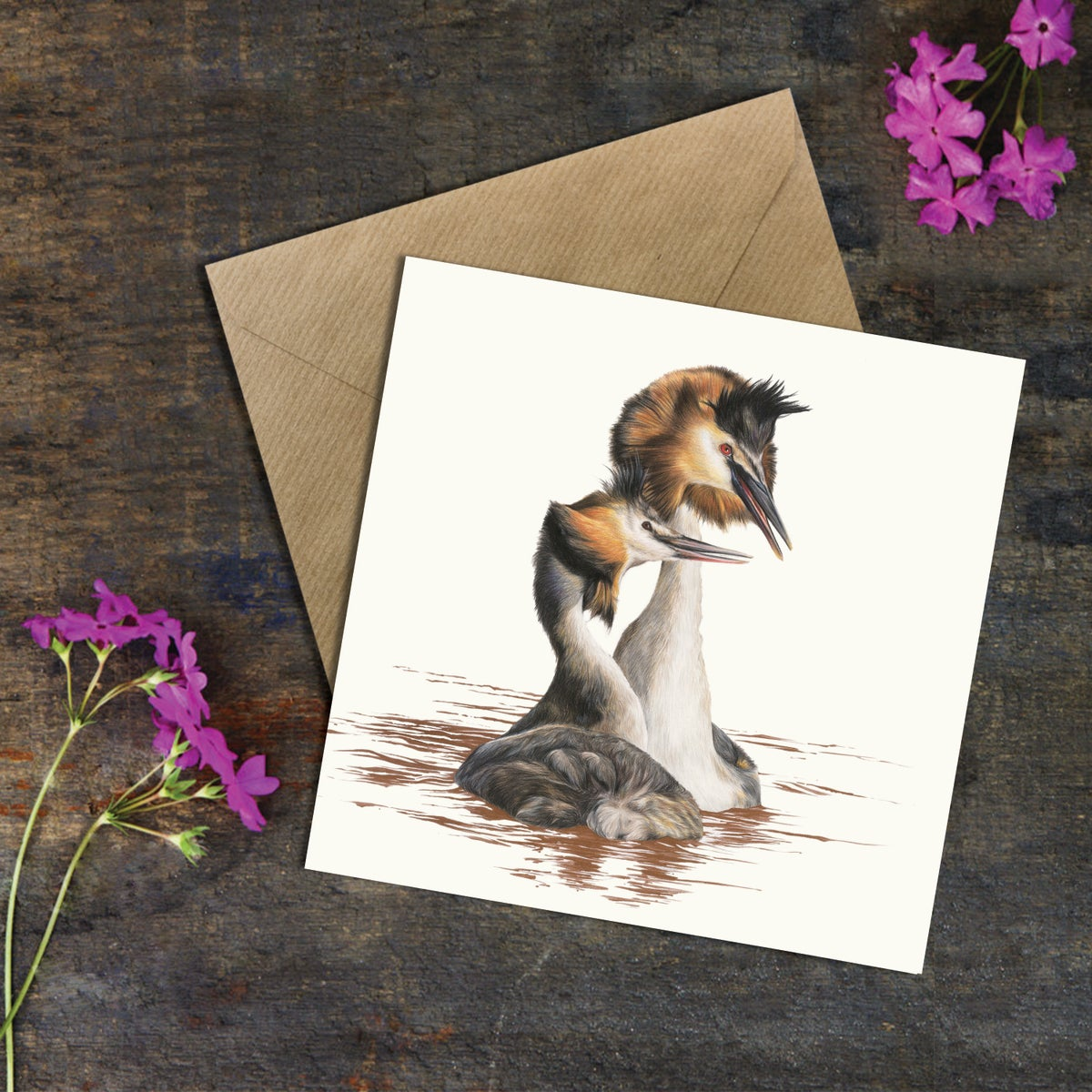 Image of 'Great Crested Grebe' Greeting Card
