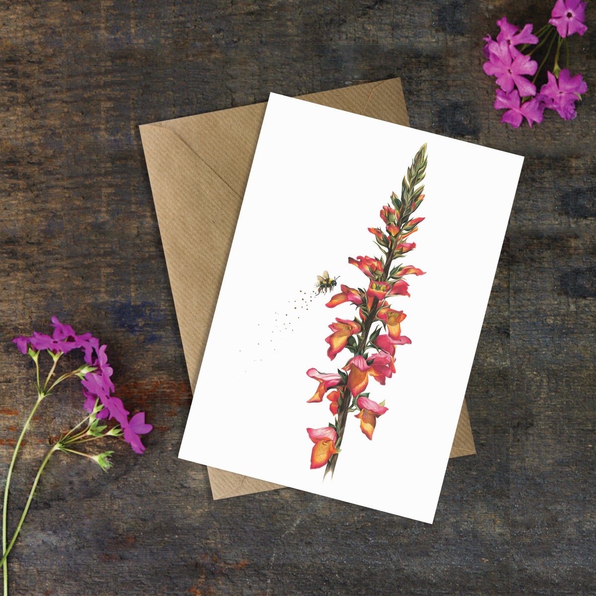 Image of 'Digitalis Foxhight Ruby Glow' Greeting Card
