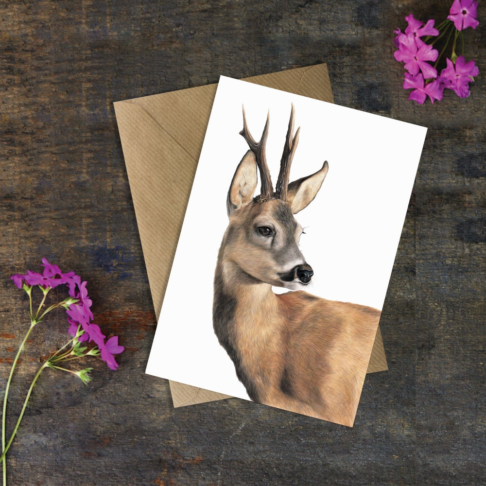 Image of 'Roe Buck' Greeting Card