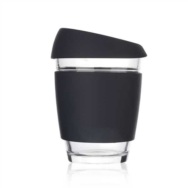 Image of 12oz Black - Wave Glass