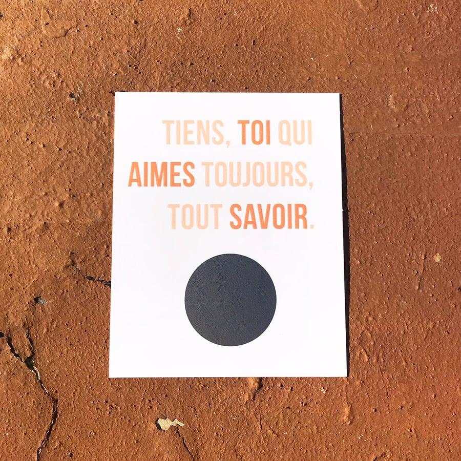 Image of Toi qui aimes... (Tatie)