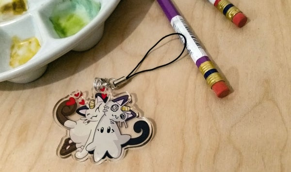 Image of Meowth-kyu Hugs - Charm