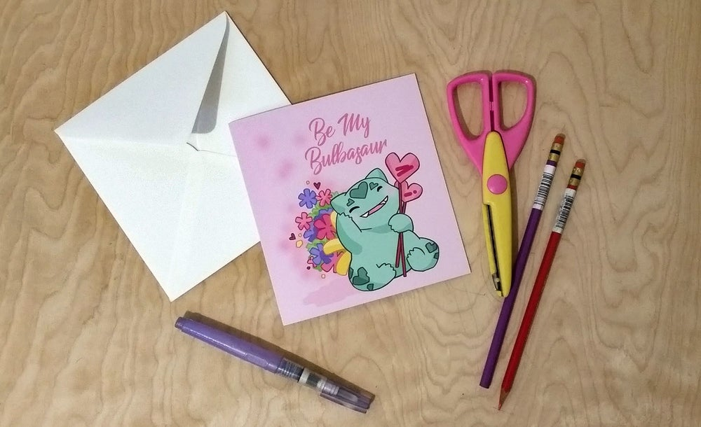 Image of Be My Bulbasaur - Valentines Card