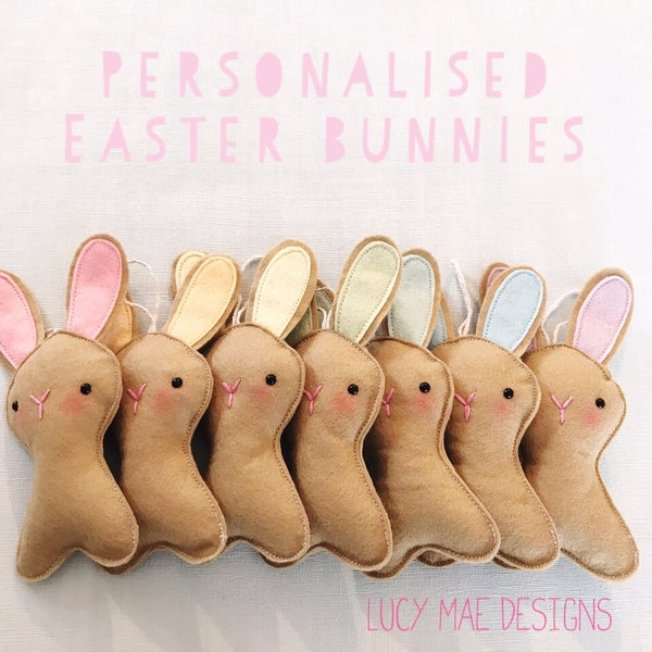Image of Personalised Easter bunny decorations