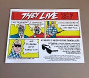 Image of Mondo THEY LIVE movie poster - AP edition.