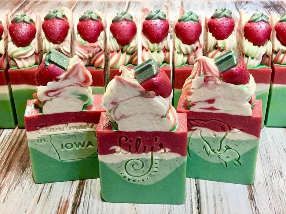 Image of Kiwi Strawberry Goat Milk Soap