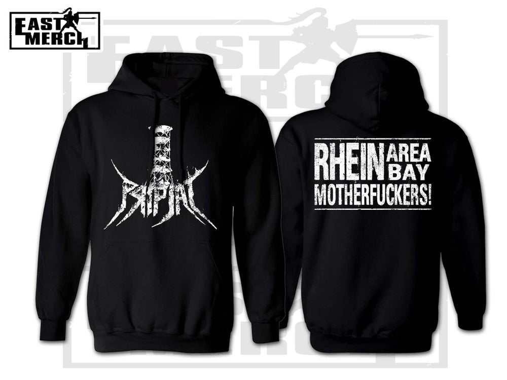 Image of Rhein Area Bay - Black Hoodie with Backprint