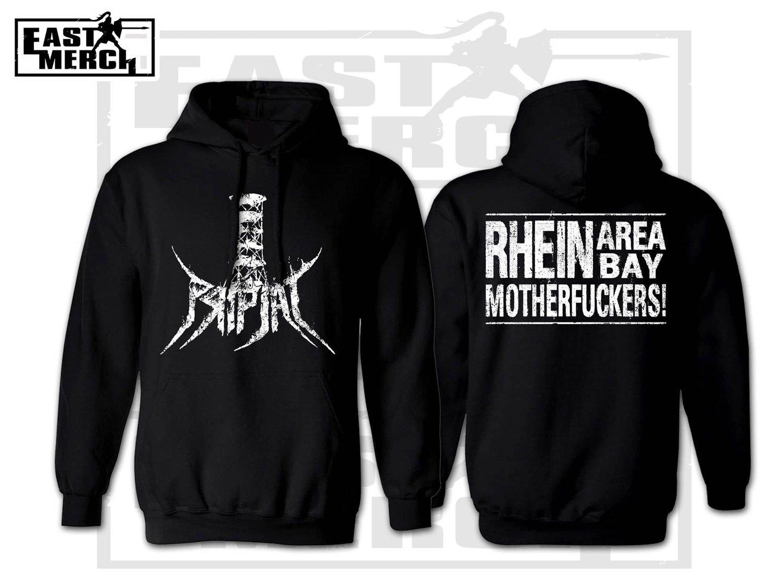 Image of Rhein Area Bay - Black Hoodie with Backprint