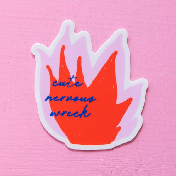 Image of Cute Nervous Wreck Sticker