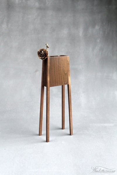 Image of Modern wood vase