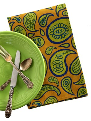 Image of Gold Paisley Tea Towel - FREE SHIPPING