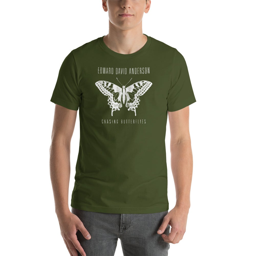 Image of Unisex Chasing Butterflies Shirt- White Print (4 colors)