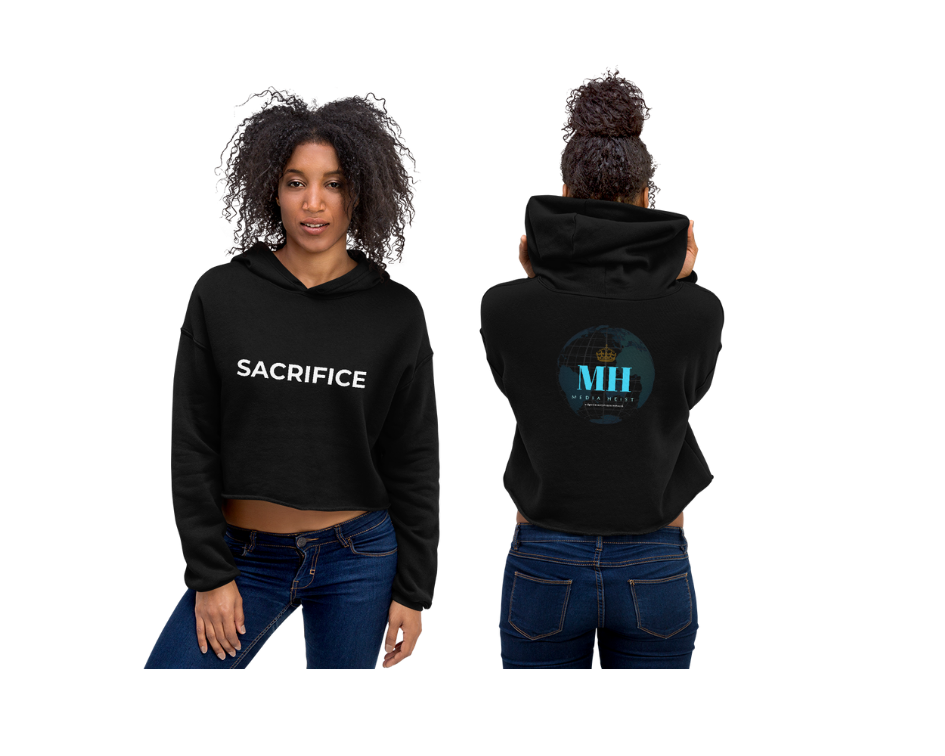 "Image of Women's ""SACRIFICE"" Crop Hoodie"