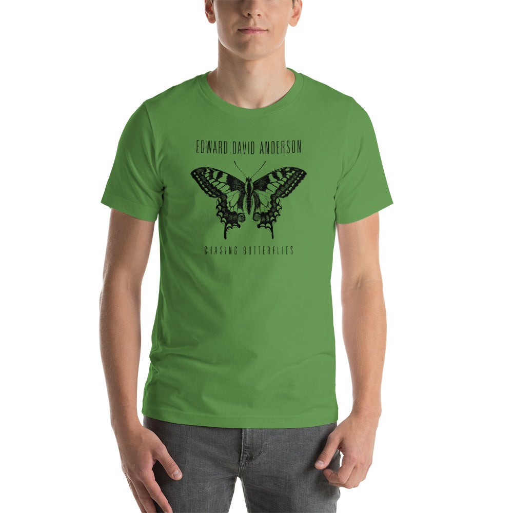 Image of Unisex Chasing Butterflies Shirt- Black Print (4 colors)