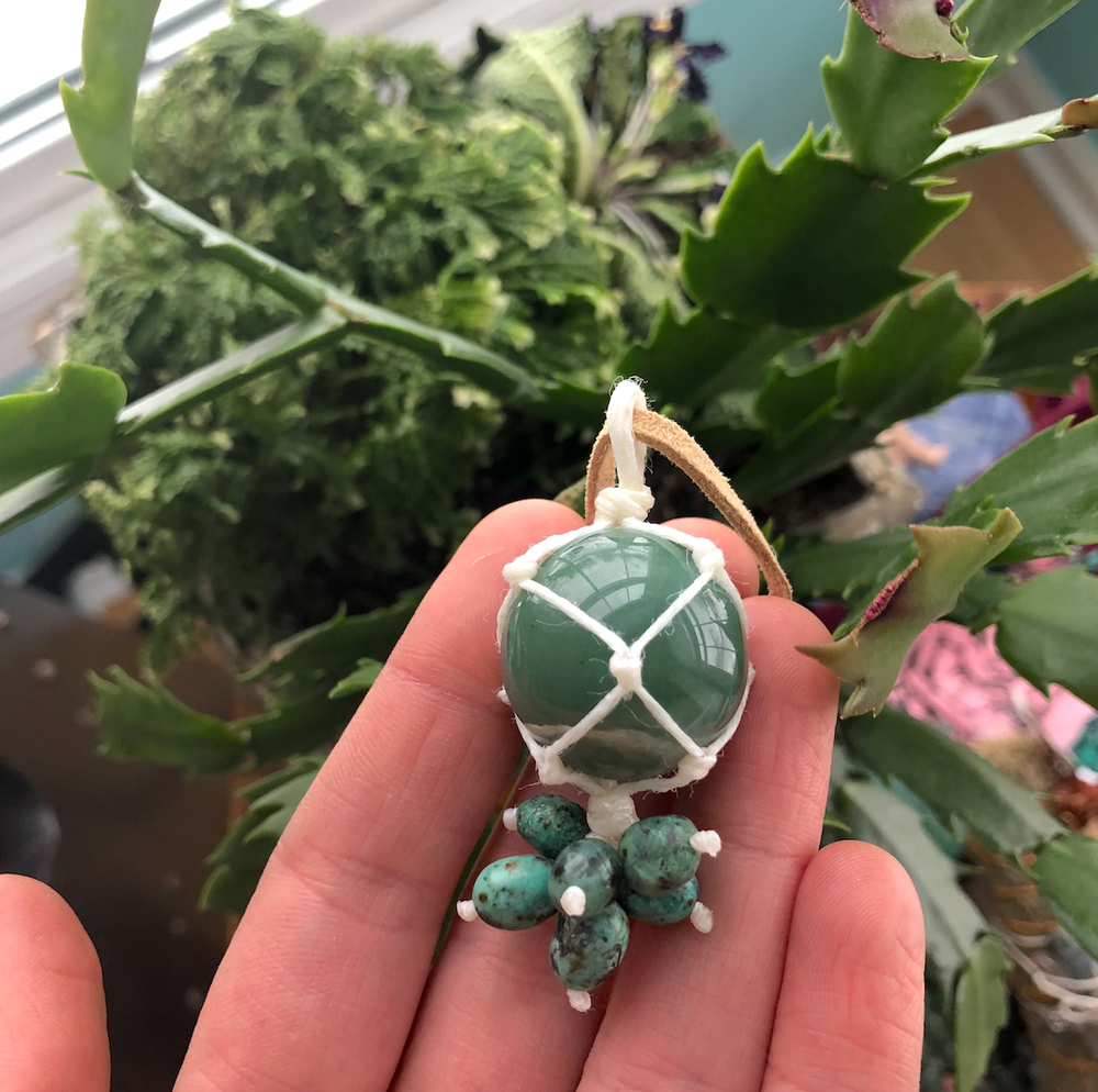 Image of Green Aventurine + African Turquoise Necklace