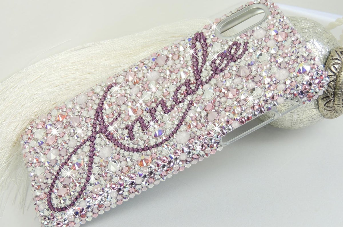 Image of Lavish Blush Fully Covered Case for iPhone & Samsung with Crystals by Swarovski®