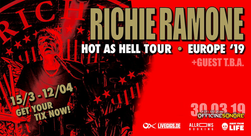 Image of Richie Ramone - Hot as Hell Tour 2019