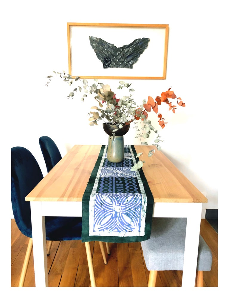 Image of Toile batik verte