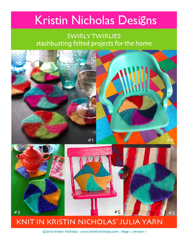 Image of Knit PDF - Swirly Twirlies Download