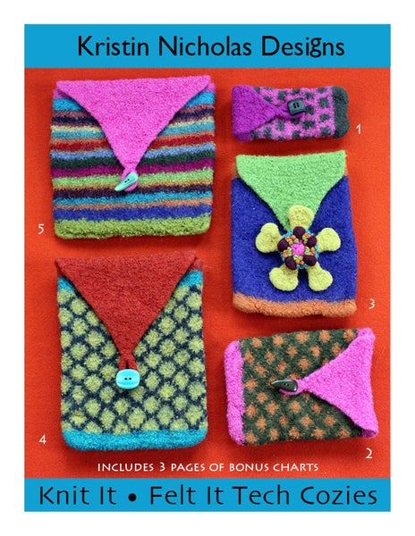 Image of Knit PDF - Knit It • Felt It Tech Cozies Download