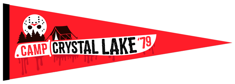 Image of Camp Crystal Lake Felt Pennant