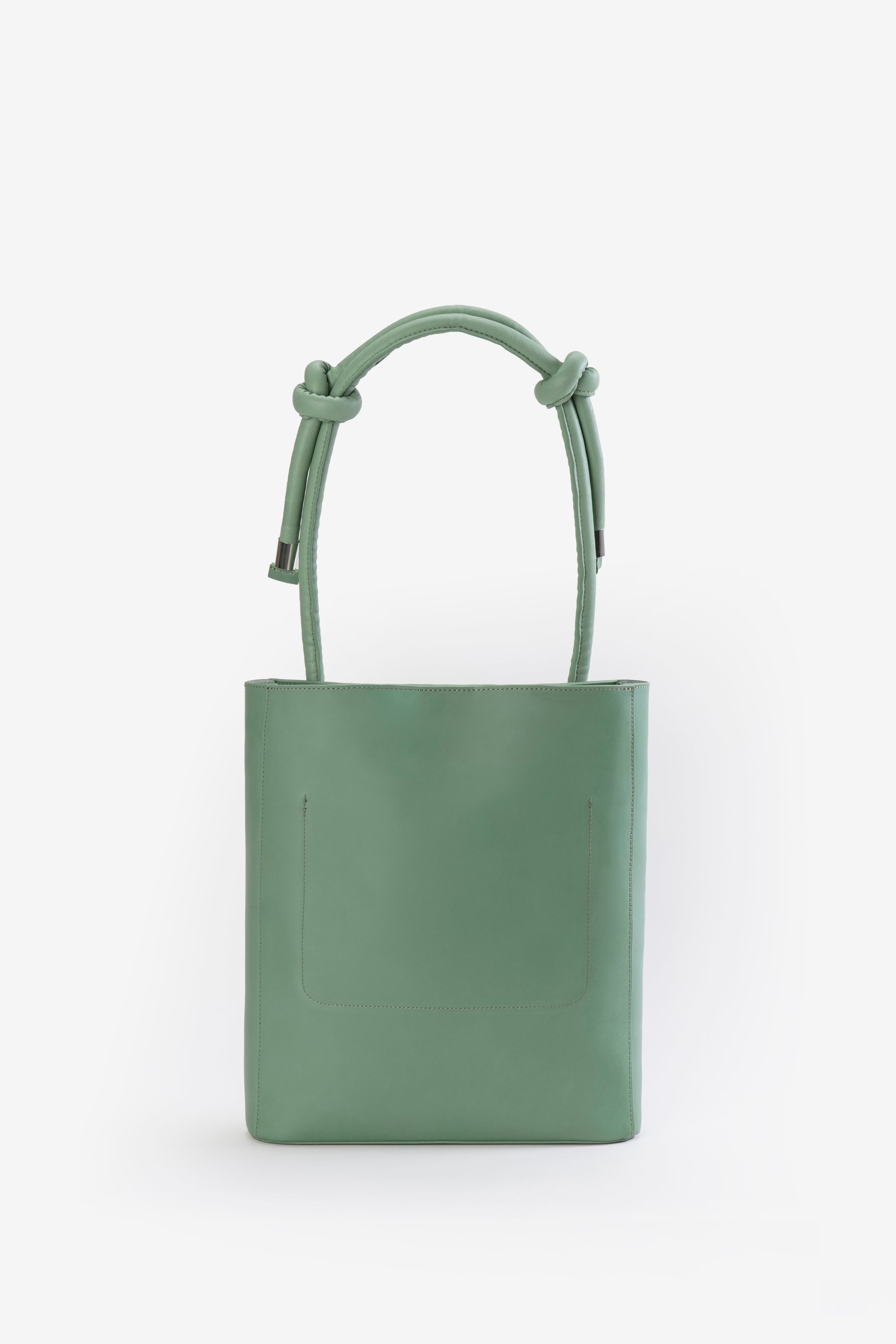Image of ZOEE 2 ways chunky knot leather bag with adjustable strap