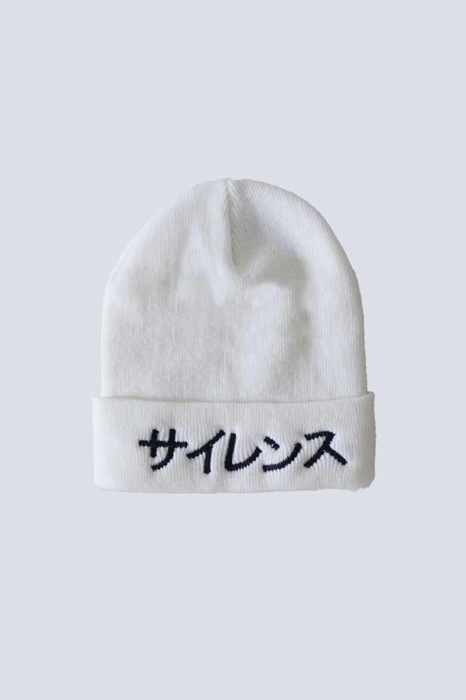 Image of Silence Beanie White
