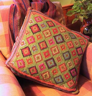Image of Knit PDF - Field of Diamonds Pillow Download