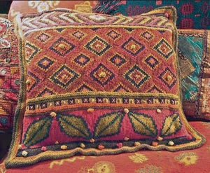 Image of Knit PDF - Turkish Leaves Pillow Download
