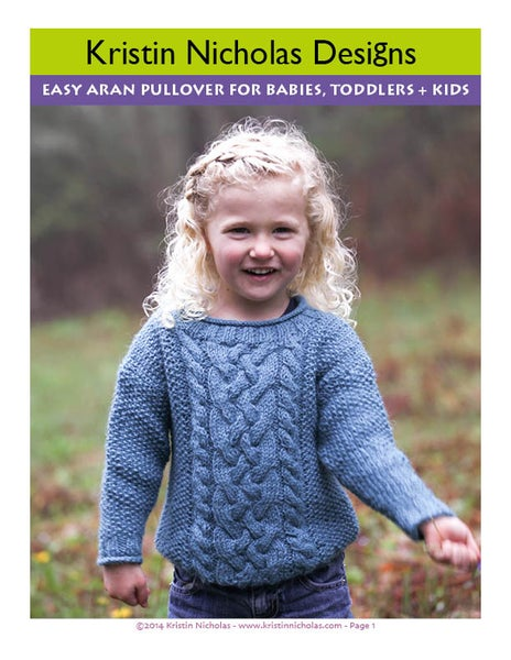 Image of Knit PDF - Easy Aran for Kids and Babies Download