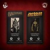 Image of Limited Edition Lord Baltimore & Joe Golem enamel pin set! MONSTER FLASH SALE!