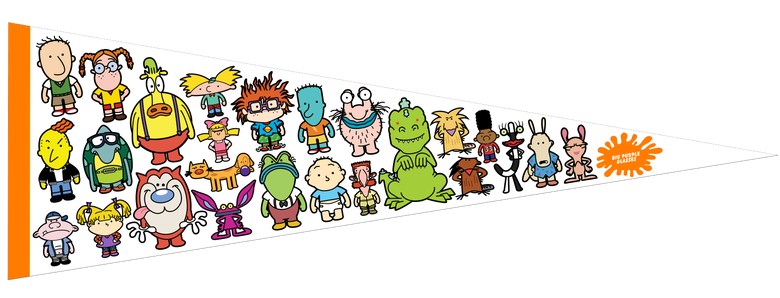 Image of Nicktoons Felt Pennant