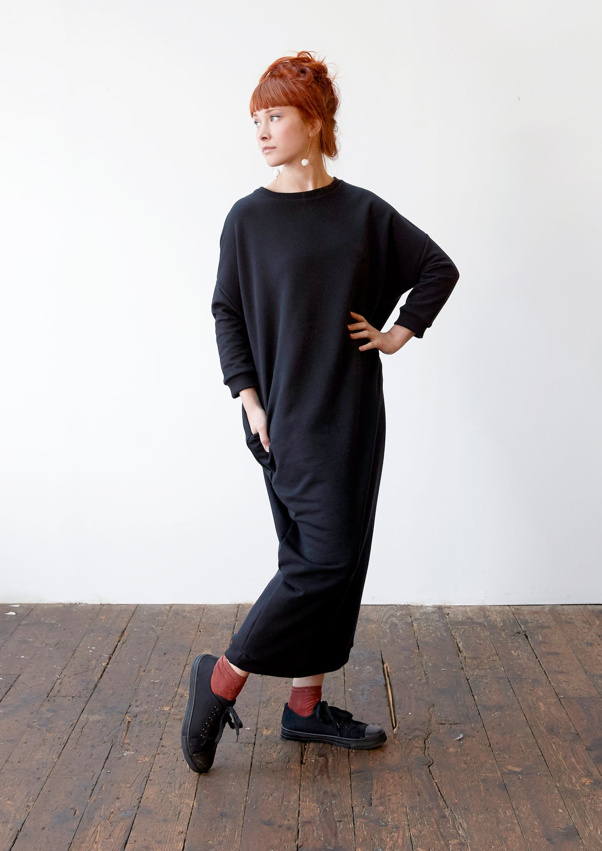 Image of Long Sweatshirt Dress