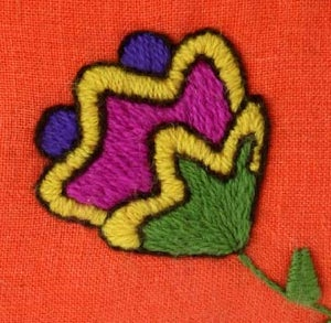 Image of Crewel Embroidery PDF - Quirky Crewel Pillow Download