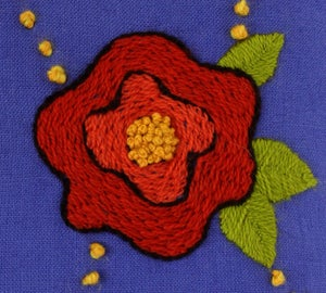 Image of Crewel Embroidery PDF - Sea of Roses Pillow Download