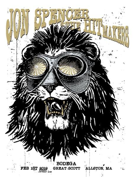 Image of Jon Spencer & the HITmakers poster 2019