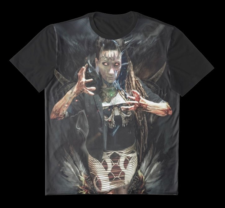 "Image of Limited Edition ""The Summoned"" Artwork Tee Shirt featuring Lily Luna"