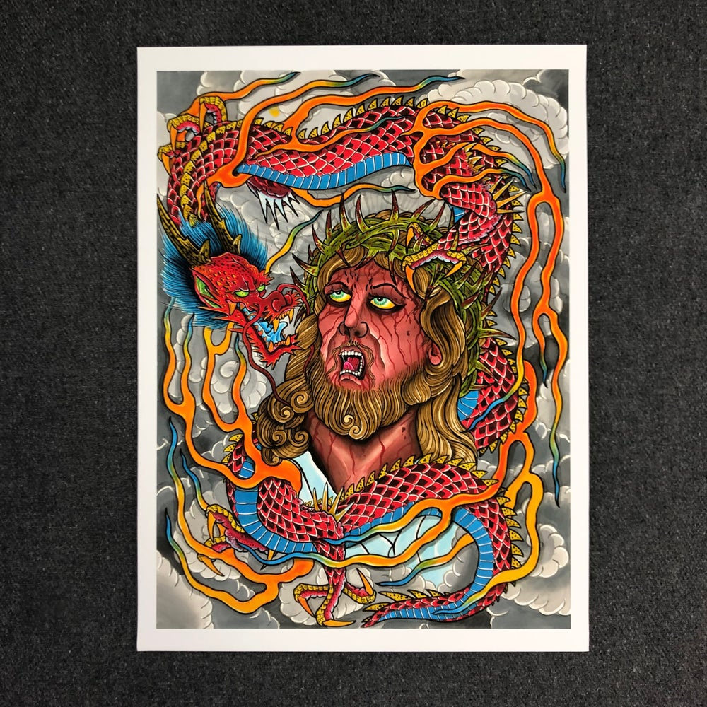 Image of JESUS / DRAGON GICLEE