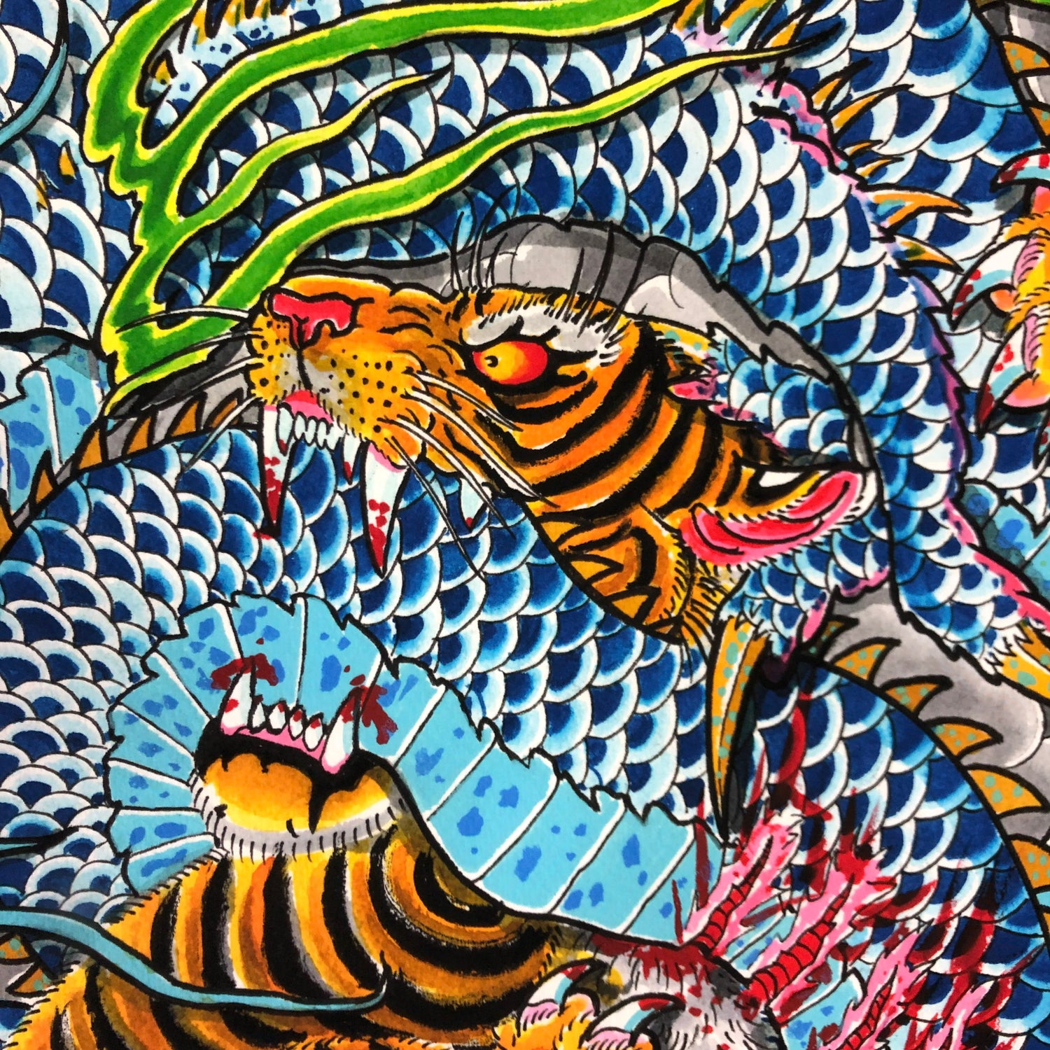 Image of TIGER / DRAGON GICLEE